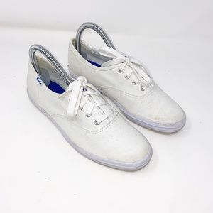 Keds white canvas sneakers
